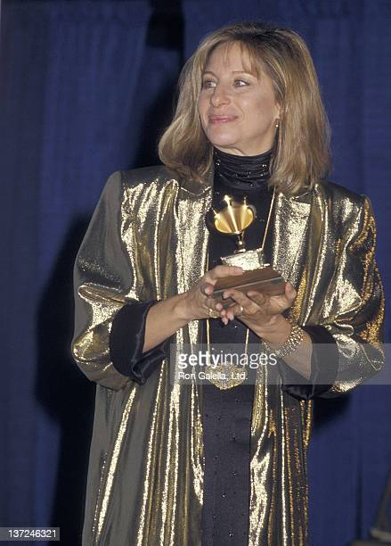 Actress/Singer Barbra Streisand attends the 29th Annual Grammy Awards on February 24 1987 at the Shrine Auditorium in Los Angeles California