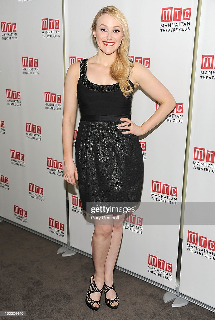 Actress/singer Betsy Wolfe attends the 2012 Manhattan Theatre Club Benefit: An Intimate Night at Jazz at Lincoln Center on January 28, 2013 in New York City.