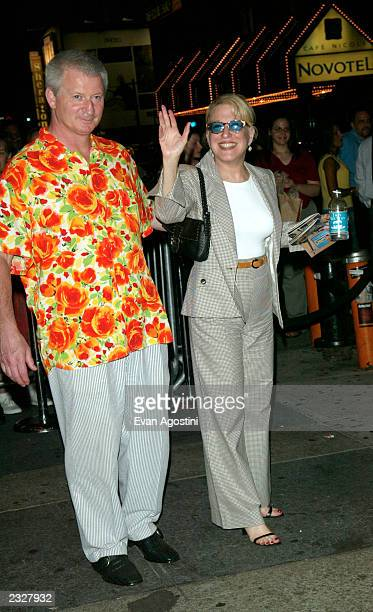 Actress/singer Bette Midler with husband Martin von Hasselberg at the opening night of the musical Hairspray afterparty at Roseland in New York City...