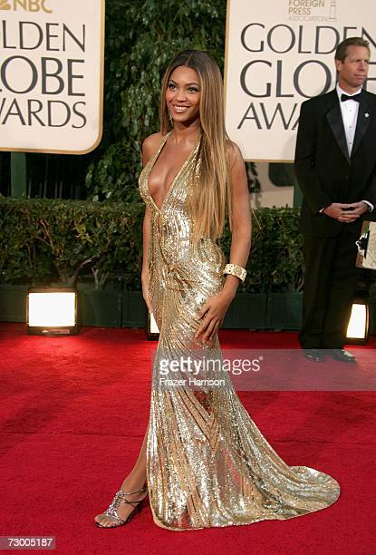 Actress/singer Beyonce Knowles arrives at the 64th Annual Golden Globe Awards at the Beverly Hilton on January 15 2007 in Beverly Hills California