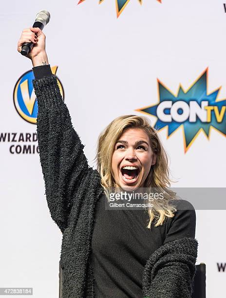 Actress/singer Billie Piper attends day 3 of Wizard World Comic Con at Pennsylvania Convention Center on May 9 2015 in Philadelphia Pennsylvania