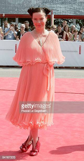 Actress/Singer Bjork arrives at the Premiere for the competition film Drawing Restraint 9 at the Palazzo del Cinema as part of the 62nd Venice Film...