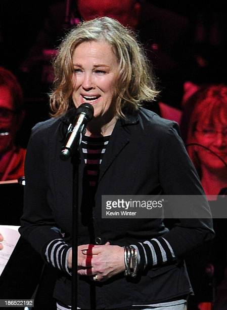 Actress/singer Catherine O'Hara performs onstage during Danny Elfman's Music from the films of Tim Burton at Nokia Theatre LA Live on October 31 2013...