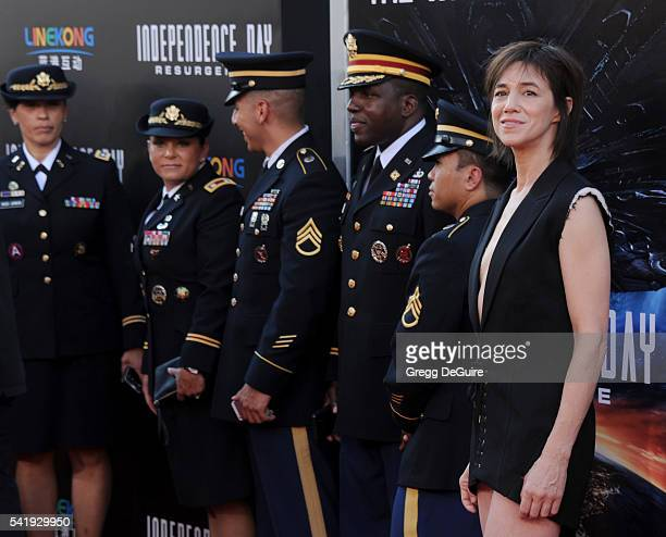 Actress/singer Charlotte Gainsbourg arrives at the premiere of 20th Century Fox's Independence Day Resurgence at TCL Chinese Theatre on June 20 2016...