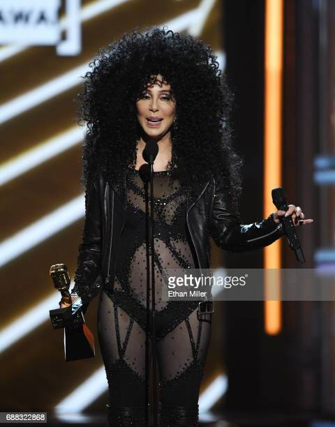 Actress/singer Cher accepts the Billboard Icon Award during the 2017 Billboard Music Awards at TMobile Arena on May 21 2017 in Las Vegas Nevada