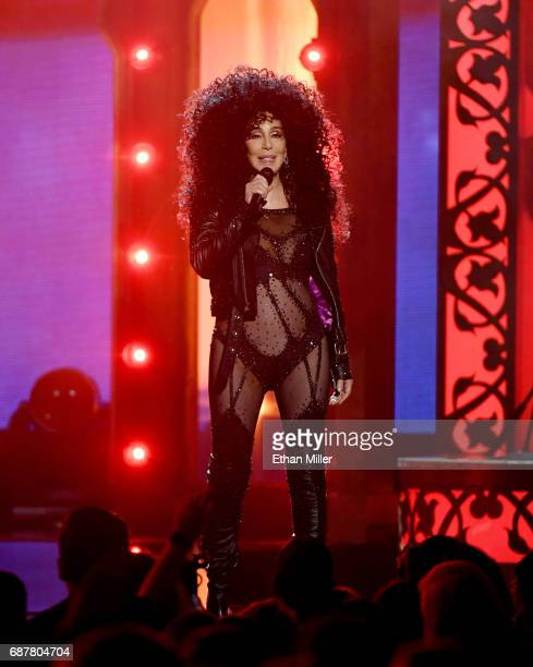 Actress/singer Cher performs during the 2017 Billboard Music Awards at TMobile Arena on May 21 2017 in Las Vegas Nevada