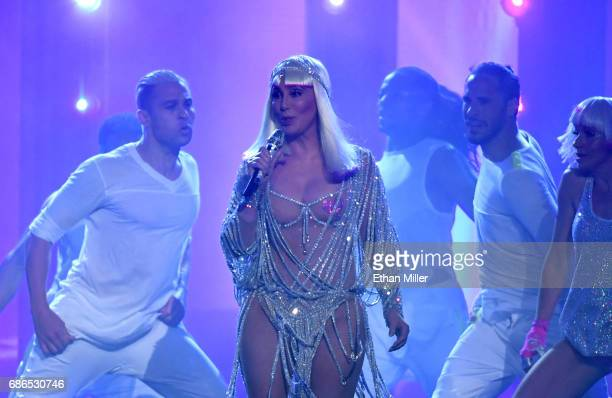 Actress/singer Cher performs onstage during the 2017 Billboard Music Awards at TMobile Arena on May 21 2017 in Las Vegas Nevada
