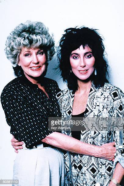 Actress/singer Cher w her mother Jackie Jean Crouch