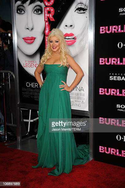 Actress/singer Christina Aguilera arrives at the premiere of Screen Gems' Burlesque at Grauman�s Chinese Theater on November 15 2010 in Los Angeles...