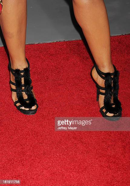 Actress/singer Christina Milian at the Los Angeles premiere of 'Baggage Claim' at Regal Cinemas LA Live on September 25 2013 in Los Angeles California