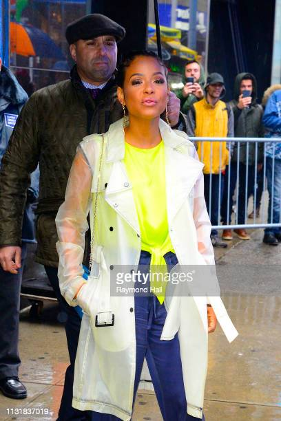 Actress/Singer Christina Milian is seen outside Good Morning America on March 21 2019 in New York City