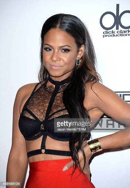 Actress/singer Christina Milian poses in the press room at the 2014 American Music Awards at Nokia Theatre L.A. Live on November 23, 2014 in Los...