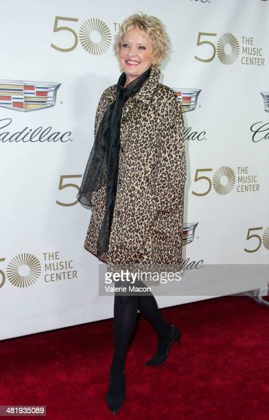 Actress/singer Christine Ebersole arrives at The Music Center's 50th Anniversary Launch Party at Dorothy Chandler Pavilion on April 1 2014 in Los...
