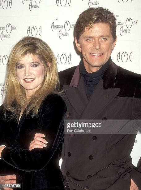 Actress/Singer Crystal Bernard and Singer Peter Cetera attend the 23rd Annual American Music Awards on January 29 1996 at Shrine Auditorium in Los...