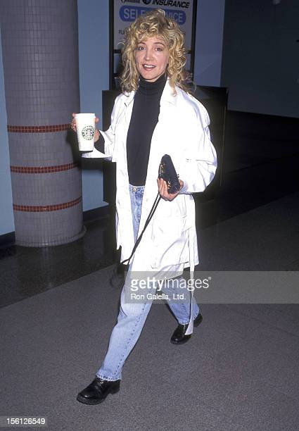 Actress/Singer Crystal Bernard on April 25 1997 arriving at the Los Angeles International Airport in Los Angeles California