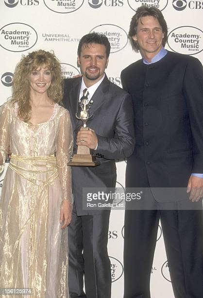 Actress/Singer Crystal Bernard Singer Mark Wills and Singer Billy Dean attend the 34th Annual Academy of Country Music Awards on May 5 1999 at...