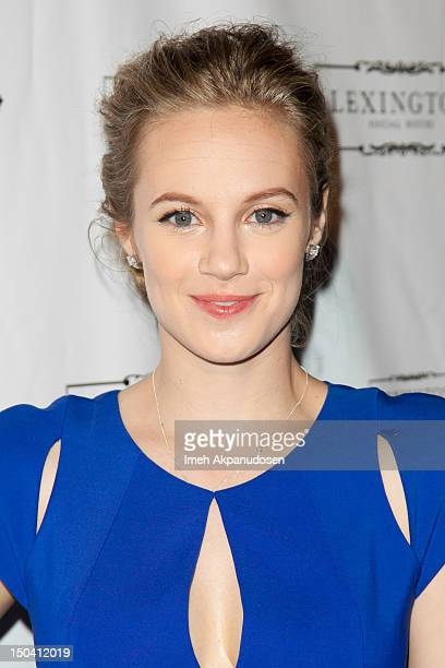 Actress/singer Danielle Savre attends the premiere party for her music video debut at Lexington Social House on August 16 2012 in Hollywood California