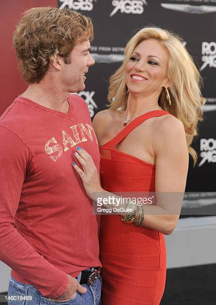 Actress/singer Debbie Gibson and Dr Rutledge Taylor arrive at the 'Rock of Ages' Los Angeles premiere at Grauman's Chinese Theatre on June 8 2012 in...