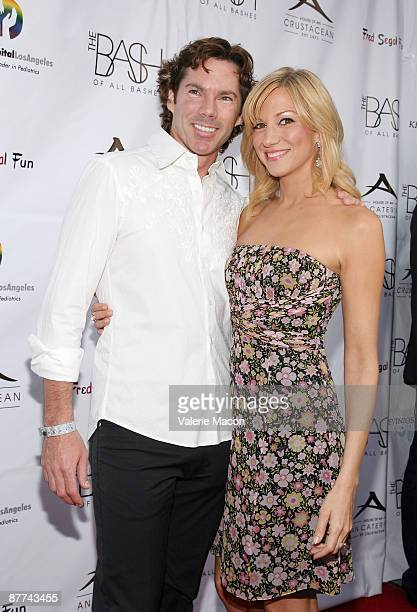 Actress/singer Deborah Gibson and Dr Rutledge Taylor arrive at the Children's Hospital Los Angeles Benefit The Bash at Crustacean on May 17 2009 in...