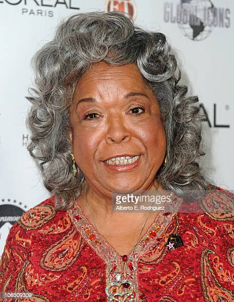 Actress/singer Della Reese arrives to the Hollywood Walk of Fame's 50th Anniversary Celebration on November 3 2010 in Hollywood California