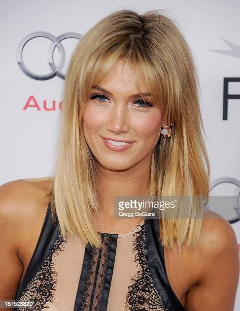 Actress/singer Delta Goodrem arrives at the AFI FEST 2013 premiere of Out Of The Furnace at TCL Chinese Theatre on November 9 2013 in Hollywood...