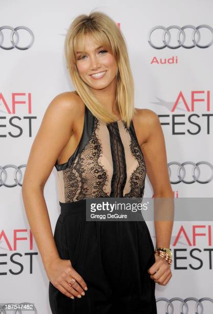 Actress/singer Delta Goodrem arrives at the AFI FEST 2013 premiere of 'Out Of The Furnace' at TCL Chinese Theatre on November 9 2013 in Hollywood...