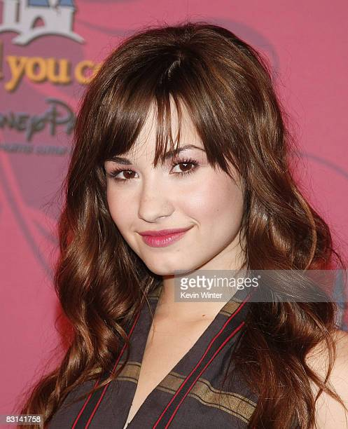 Actress/singer Demi Lovato arrives at Miley Cyrus' 'Sweet 16' birthday celebration benefiting Youth Service America at Disneyland on October 5 2008...