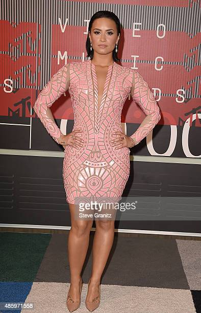 Actress/singer Demi Lovato attends the 2015 MTV Video Music Awards at Microsoft Theater on August 30 2015 in Los Angeles California