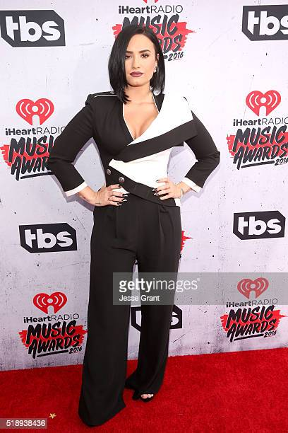 Actress/singer Demi Lovato attends the iHeartRadio Music Awards at The Forum on April 3 2016 in Inglewood California