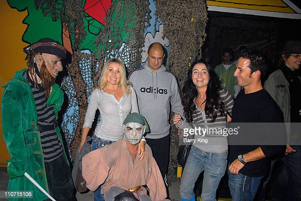 Actress/Singer EG Daily and actress Lindsey Labrum and friends at Knotts Scary Farm's 35th Annual Halloween Haunt at Knotts Berry Farm on Halloween...
