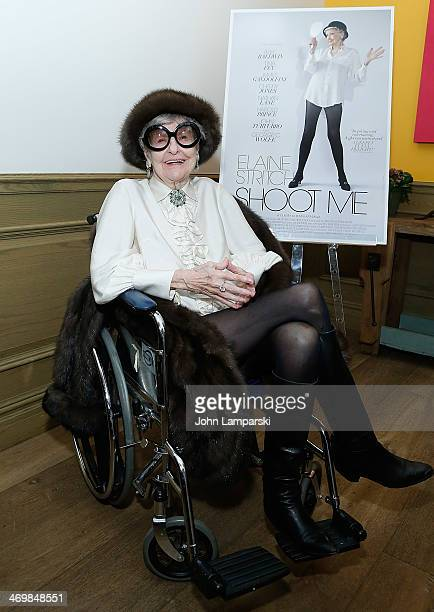 Actress/singer Elaine Stritchattends the 'Elaine Stritch Shoot Me' preview event at Crosby Street Hotel on February 16 2014 in New York City