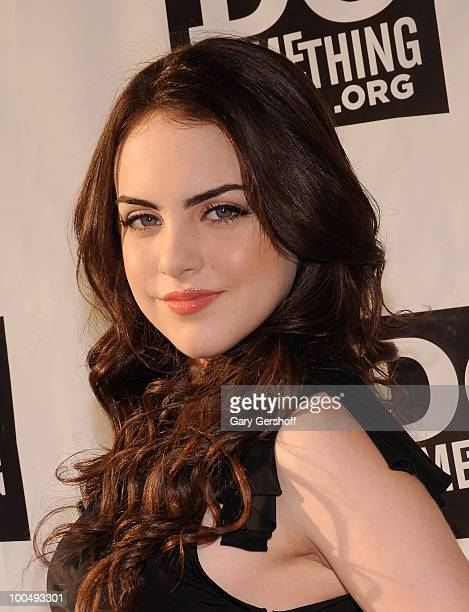 Actress/singer Elizabeth Gillies attends DoSomething.org's celebration of the 2010 Do Something Award nominees at The Apollo Theater on May 24, 2010...
