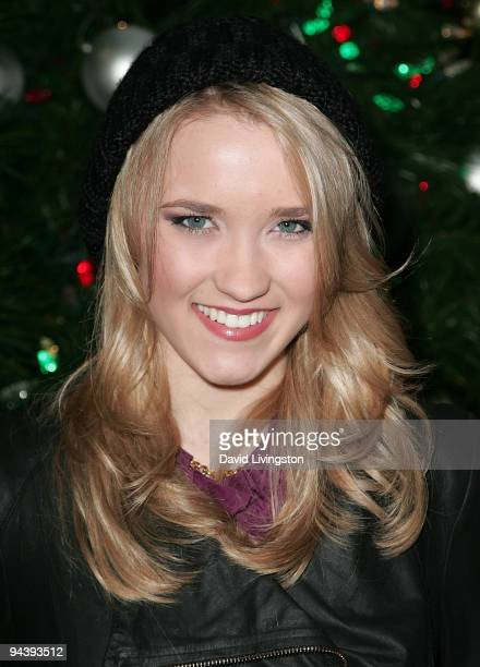 Actress/singer Emily Osment attends a CityRockin' Holidays Benefit Concert at Universal CityWalk on December 13 2009 in Universal City California