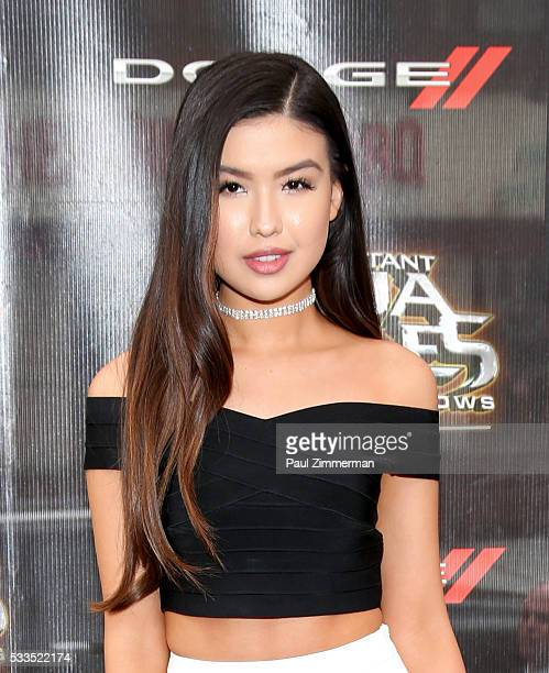 Actress/singer Erika Tham attends the 'Teenage Mutant Ninja Turtles Out Of The Shadows' world premiere at Madison Square Garden on May 22 2016 in New...