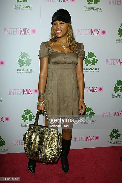 Actress/singer Eve arrives at the Intermix Boutique store opening at the Intermix Boutique store on September 25 2007 in West Hollywood California