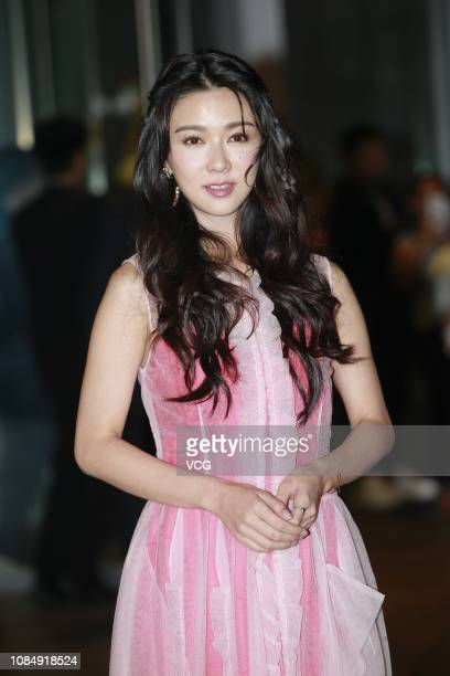 Actress/singer Fiona Sit poses for a photo before the wedding ceremony of singer/actress Gillian Chung Yantung Yantung and Michael Lai on December 20...