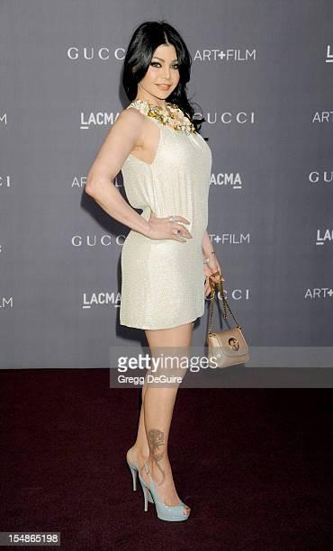 Actress/singer Haifa Wehbe arrives at LACMA Art Gala at LACMA on October 27 2012 in Los Angeles California