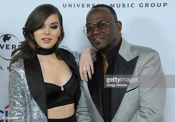 Actress/singer Hailee Steinfeld and Randy Jackson arrive at Universal Music Group's 2016 GRAMMY After Party at The Theatre At The Ace Hotel on...