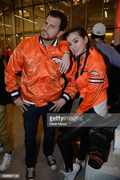 Actress/singer Hailee Steinfeld attends Super Bowl 50 at Levi's Stadium on February 7 2016 in Santa Clara California