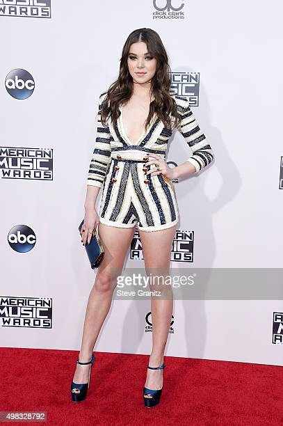 Actress/singer Hailee Steinfeld attends the 2015 American Music Awards at Microsoft Theater on November 22 2015 in Los Angeles California