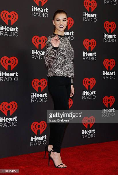 Actresssinger Hailee Steinfeld attends the 2016 iHeartRadio Music Festival at TMobile Arena on September 23 2016 in Las Vegas Nevada