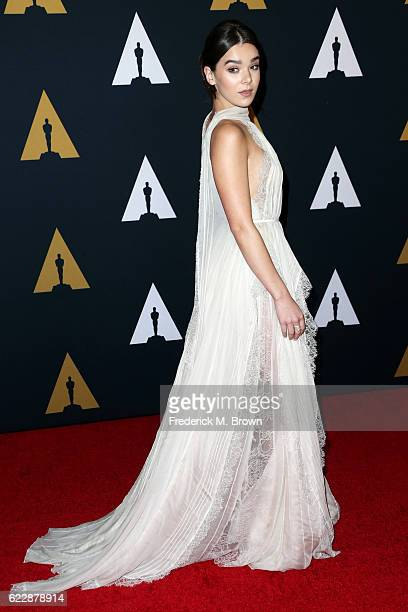 Actress/singer Hailee Steinfeld attends the Academy of Motion Picture Arts and Sciences' 8th annual Governors Awards at The Ray Dolby Ballroom at...