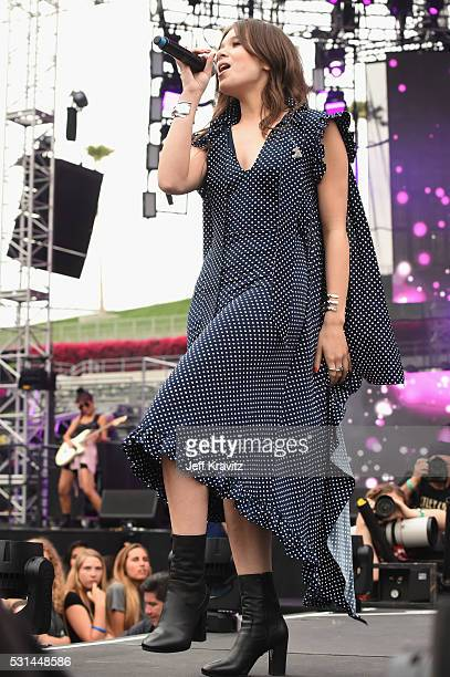 Actress/singer Hailee Steinfeld performs on stage at 1027 KIIS FM's Wango Tango 2016 at StubHub Center on May 14 2016 in Carson California