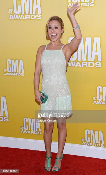 Actress/singer Hayden Panettiere attends the 46th annual CMA Awards at the Bridgestone Arena on November 1 2012 in Nashville Tennessee