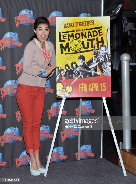 Actress/singer Hayley Kiyoko visits Planet Hollywood Times Square on April 8 2011 in New York City