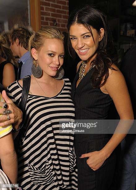 Actress/singer Hilary Duff and actress Jessica Szohr attend Todd DiCiurcio Heartstrings Hosted By Ed Westwick At Confederacy And Sponsored By RagBone...
