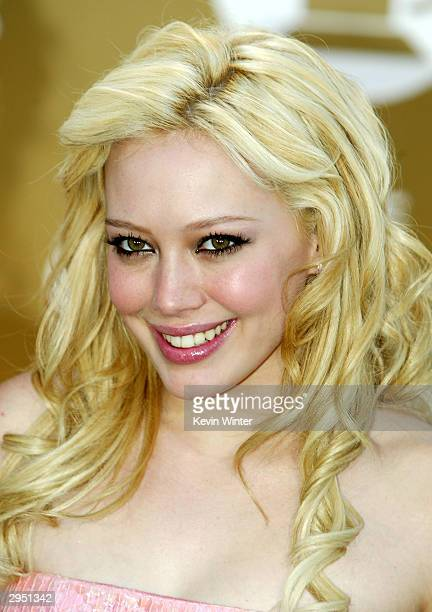 Actress/Singer Hilary Duff arrives at the 46th Annual Grammy Awards held at the Staples Center on February 8 2004 in Los Angeles California
