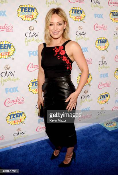 Actress/Singer Hilary Duff attends FOX's 2014 Teen Choice Awards at The Shrine Auditorium on August 10, 2014 in Los Angeles, California.
