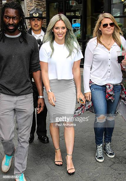 Actress/singer Hilary Duff is seen at Universal CityWalk on April 7 2015 in Los Angeles California