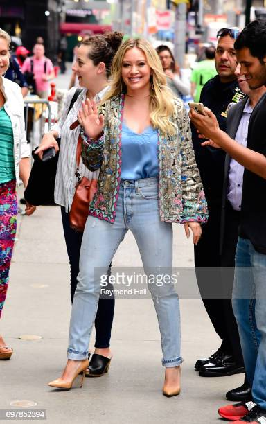 Actress/Singer Hilary Duff is seen walking in Soho on June 19 2017 in New York City